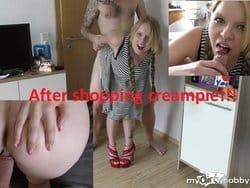 Heftiger Fick nach dem Shoppen!!! (Creampie)